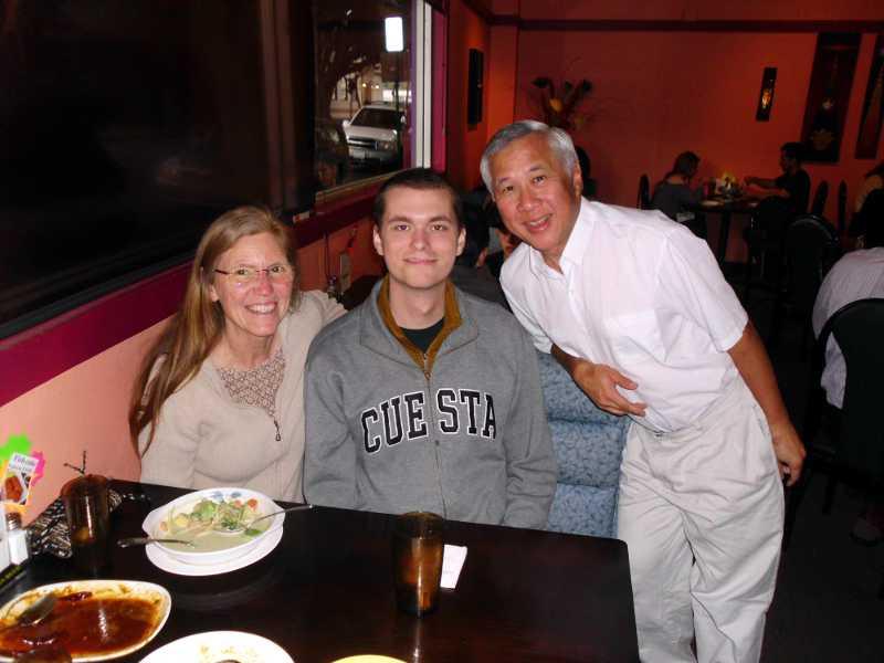 Linda, Connor, Me