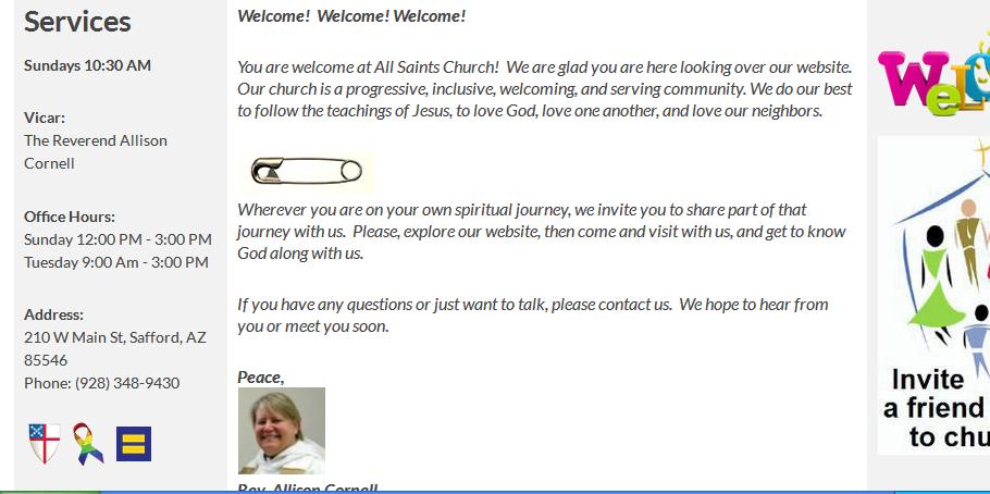 all saints web page