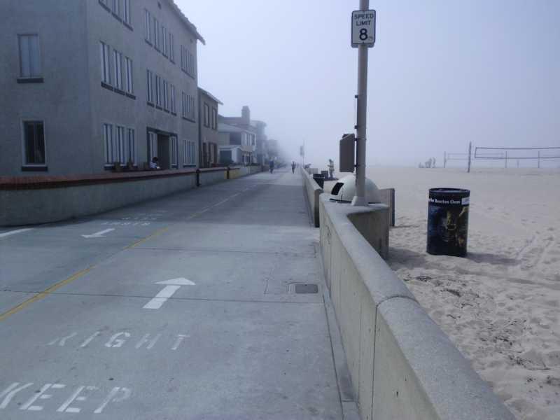 hermosa beach fog