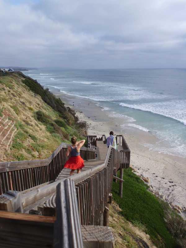 San Elijo beach stairs
