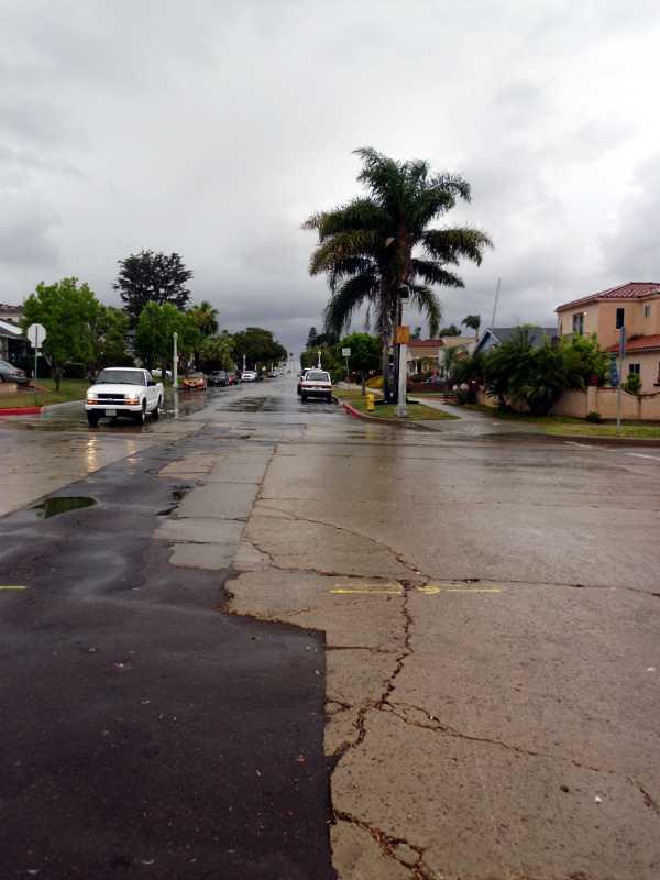 gap in rain