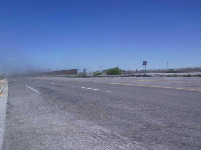 dusty town