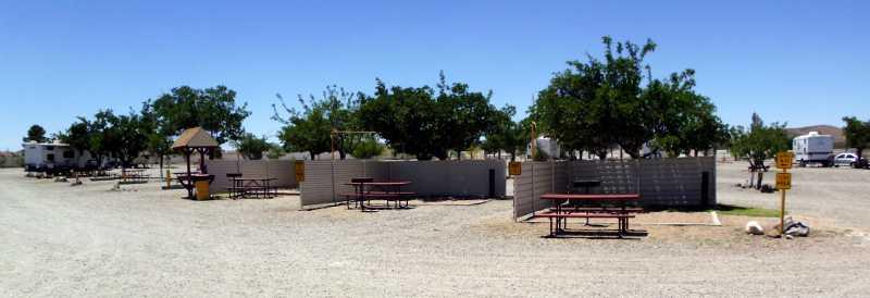 KOA tent sites