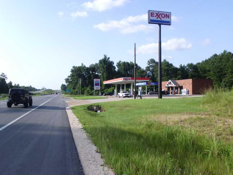 Exxon gas station.