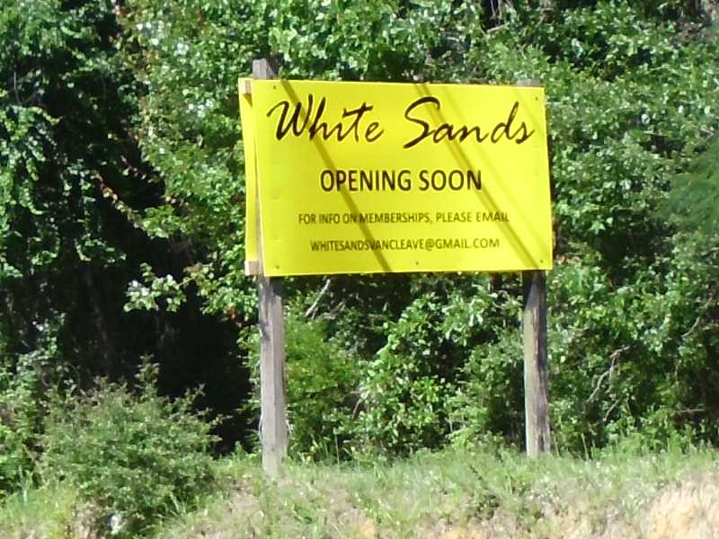 White Sands is closed