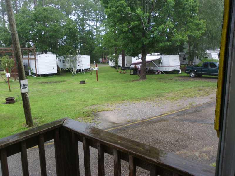 rainy camp.
