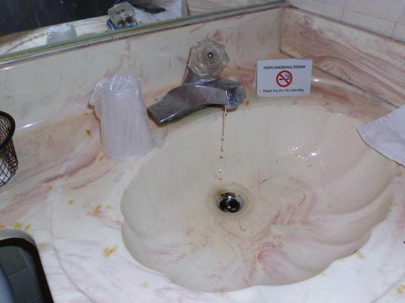 running sink