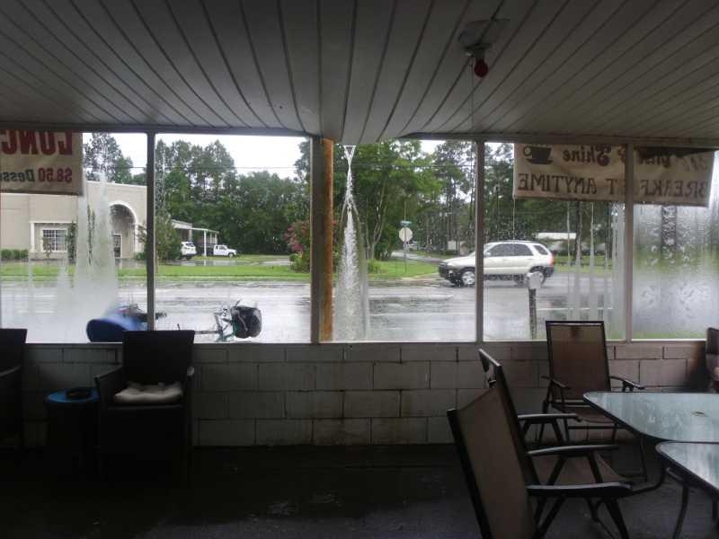 starting to rain
