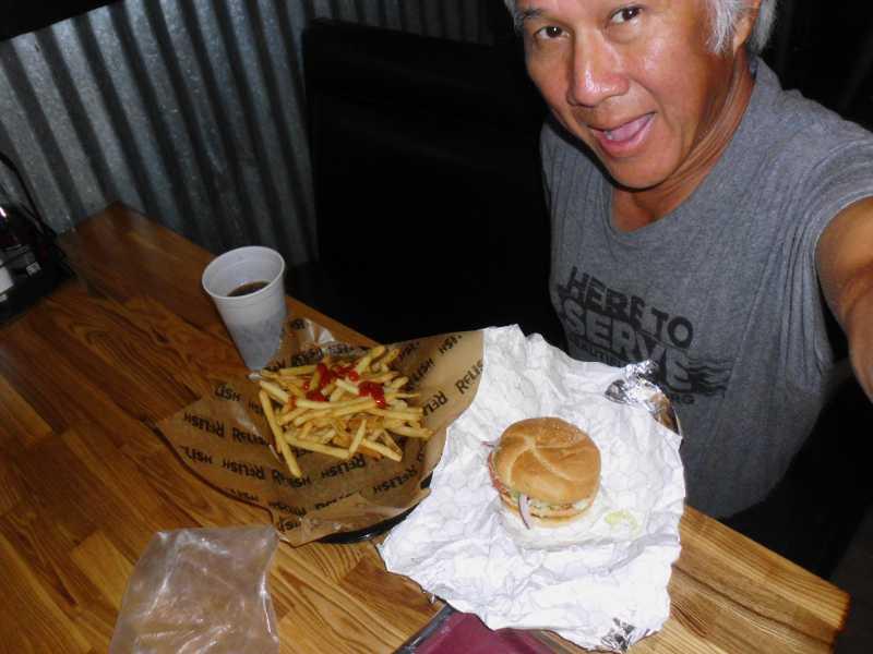 Salmon Burger at Relish
