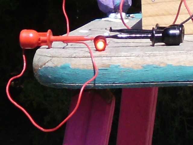 Closer view of the 8500 mcd LED in full sunlight.