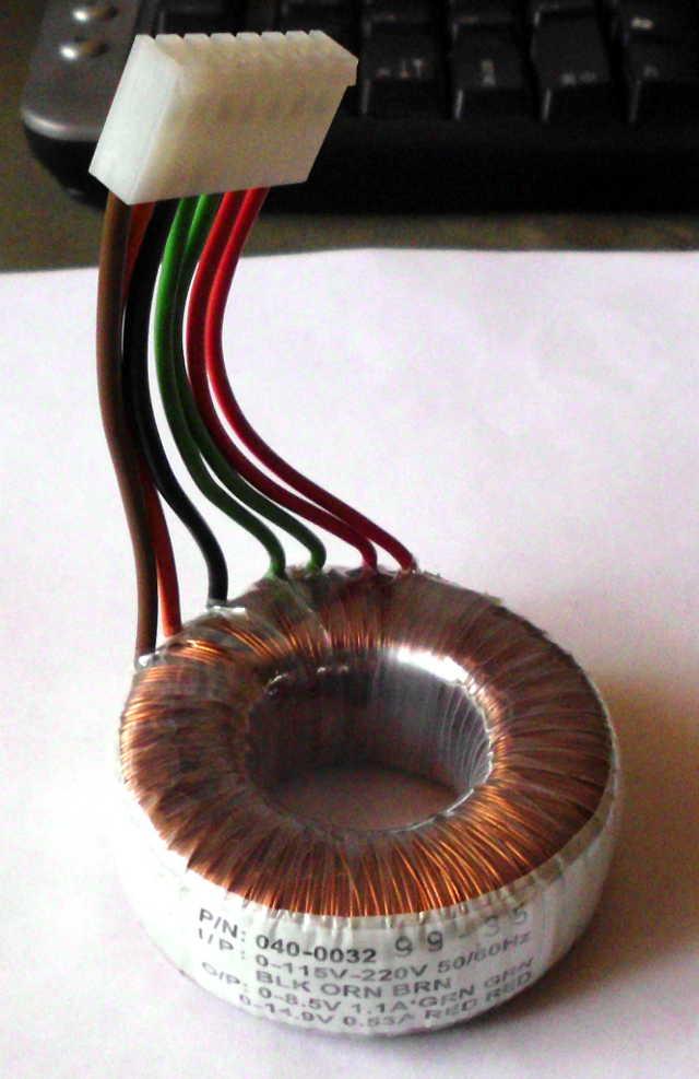 toroidal transformer.