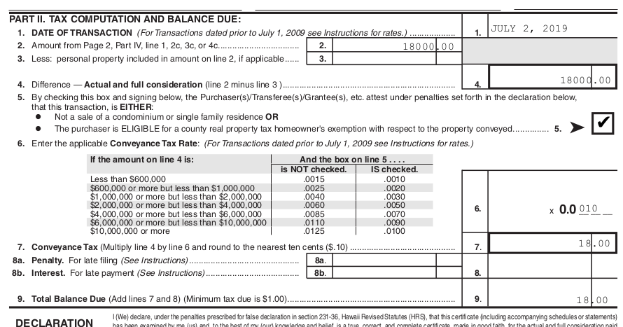 conveyance tax form