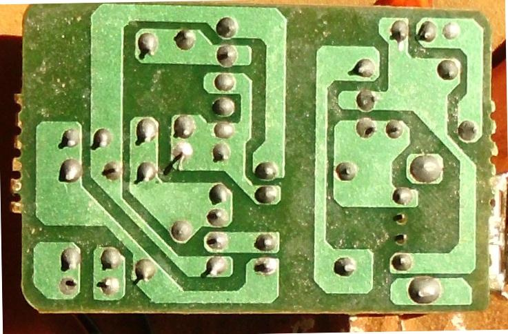 solder side of power supply board