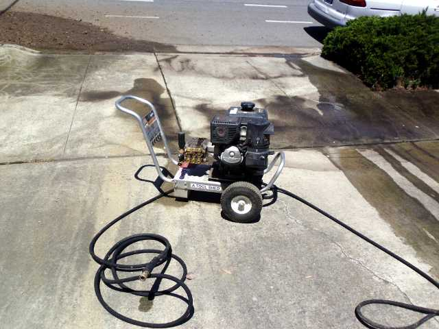 $30 for 2 hours.  3000 PSI, gasoline powered.