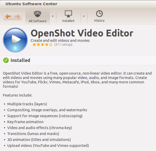 OpenShot installed.