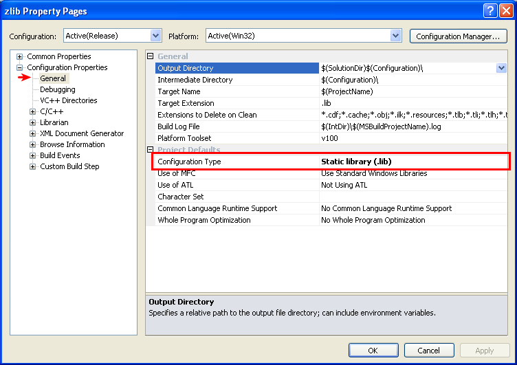 Compile libpng as a Static Library for Windows with Visual Studio