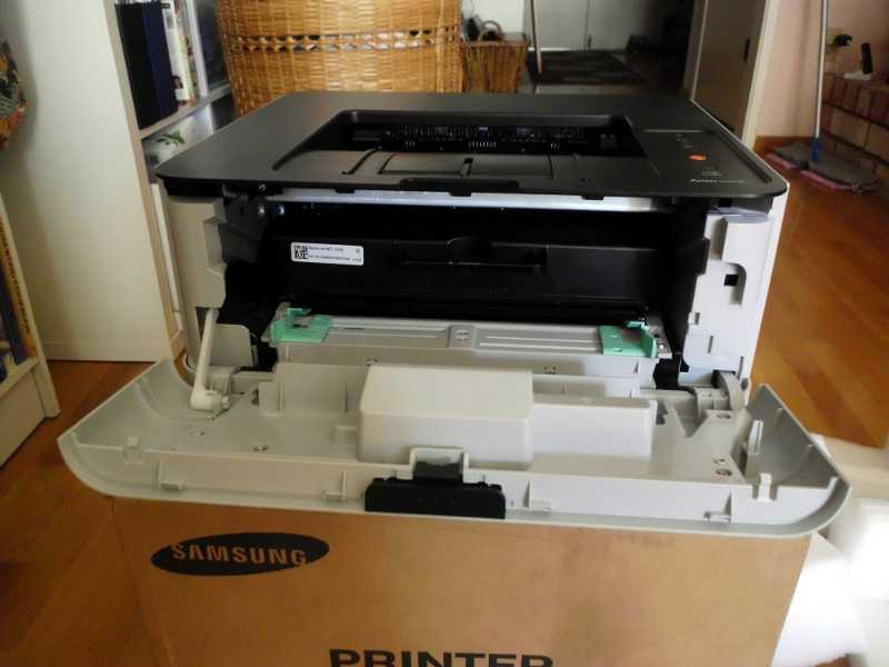 front of printer is open
